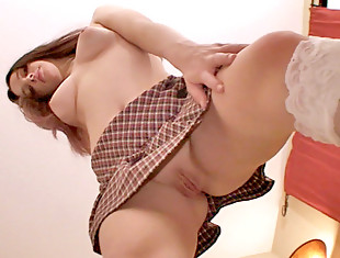 Naughty Nubile schoolgirl plays with her shaved pussyvideo
